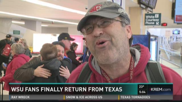 Stranded WSU fans return from El Paso snow