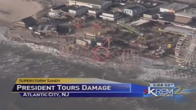 Obama tours New Jersey storm damage