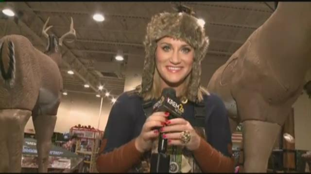Can you spot the reporter in camo at Cabela's?