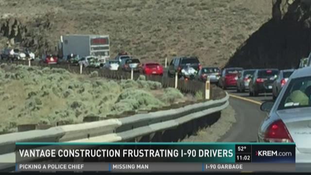 Vantage construction frustrating I-90 drivers