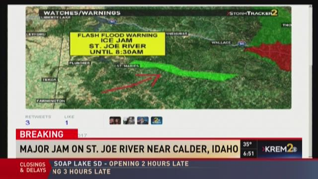 Flash flood warning near St. Joe River | KREM.com