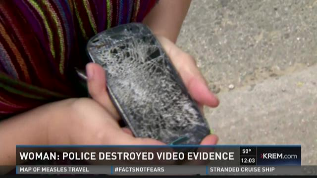 Phone damaged by police