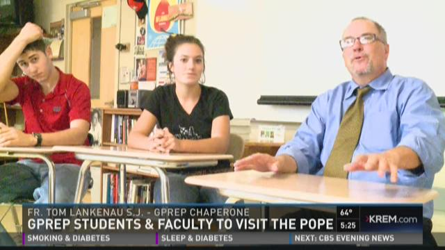 Gonzaga Prep students go to see Pope