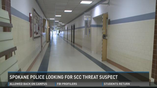 Police hunt for Spokane Community College threat suspect