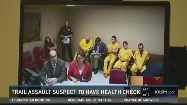 Accused trail rock thrower to have mental health check for Registrator health check