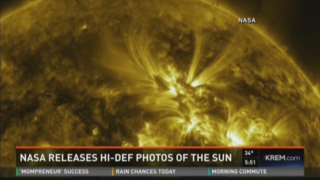 NASA releases high definition photos of the sun