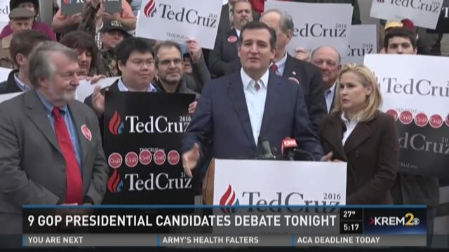 9 GOP Presidential Candidates debate Tuesday